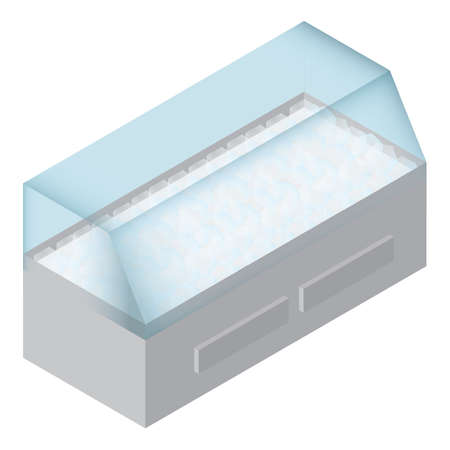 肉ディスプレイ冷蔵庫  イラスト・ベクター素材