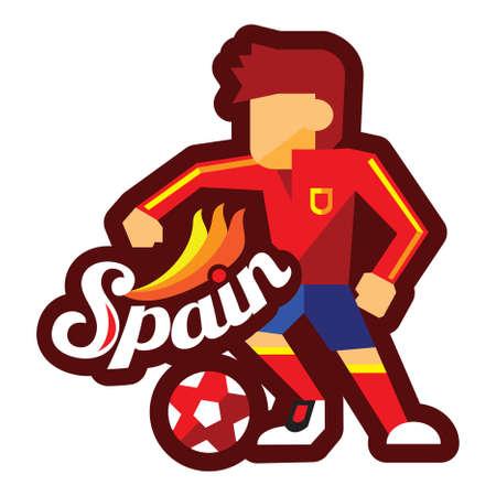 サッカー プレーヤーがボールをドリブル