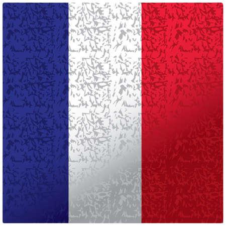Frankrijk vlag textuur achtergrond Stock Illustratie