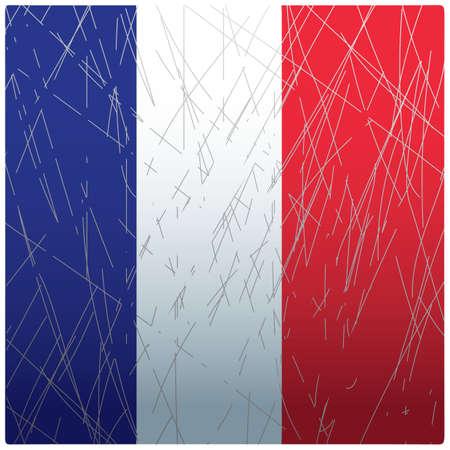 フランスの旗の背景
