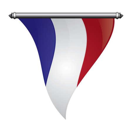 Frankreich flagge pennant Standard-Bild - 81485126