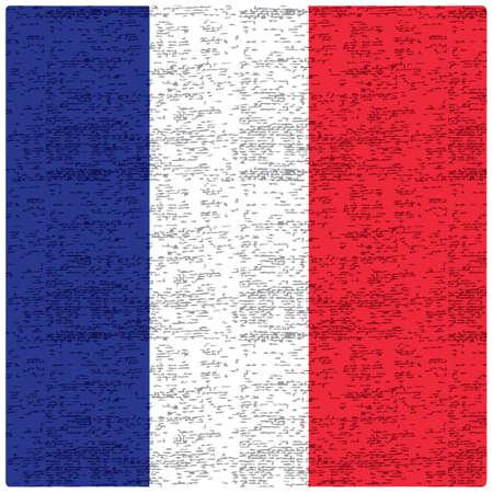 フランス国旗の抽象的な背景  イラスト・ベクター素材