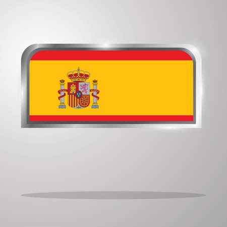 スペイン フラグ] ボタン  イラスト・ベクター素材