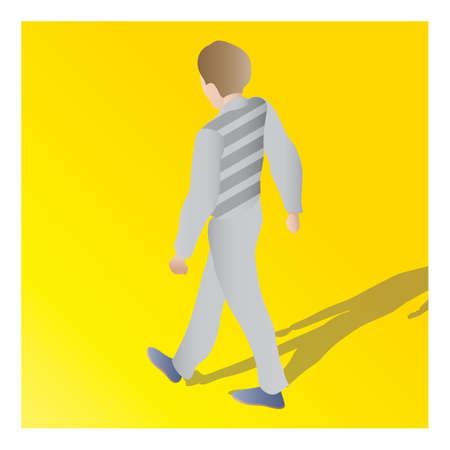 isometrisch van een man