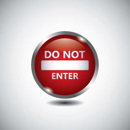 do not enter road sign