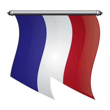Bandeira da bandeira da França Foto de archivo - 81485155