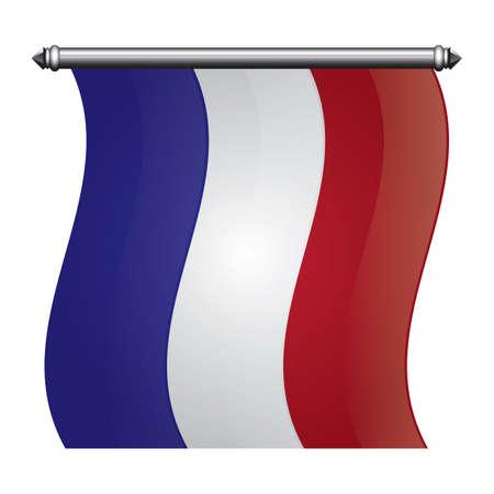 france flag pennant Illustration
