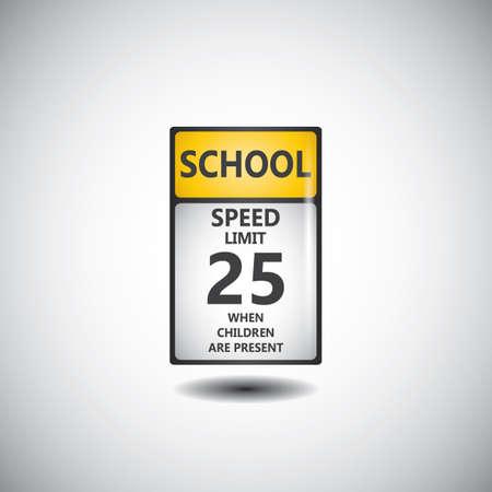 panneau de signalisation de limite de vitesse 25