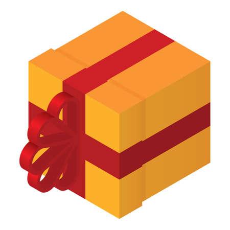 isometric gift box Illustration