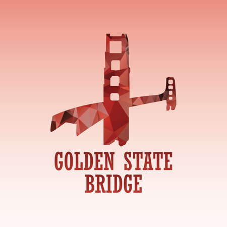 golden state bridge Иллюстрация