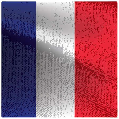 フランス国旗グランジ背景