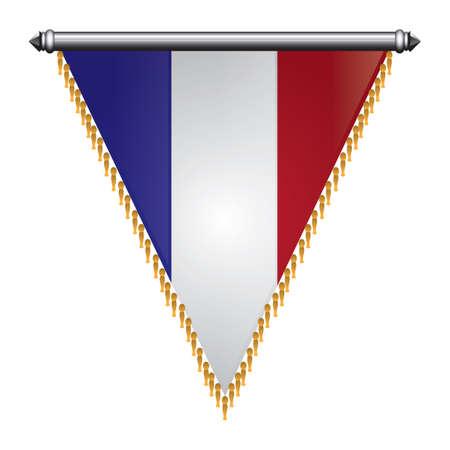 Bandiera della Francia pennant Archivio Fotografico - 81485177