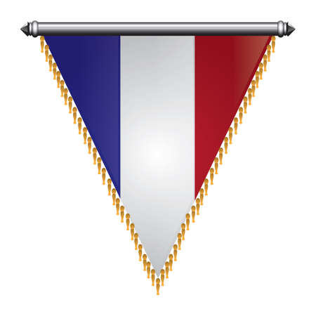 Frankreich flagge pennant Standard-Bild - 81485177