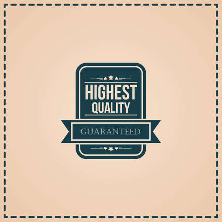 highest quality label Иллюстрация