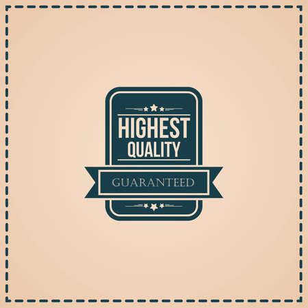 Label de qualité supérieure Banque d'images - 81485185