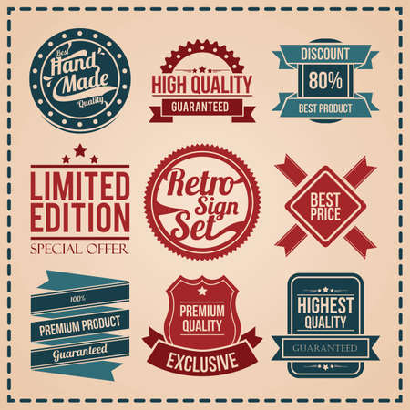 collection of best quality labels