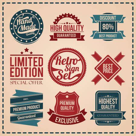 verzameling van labels van de beste kwaliteit