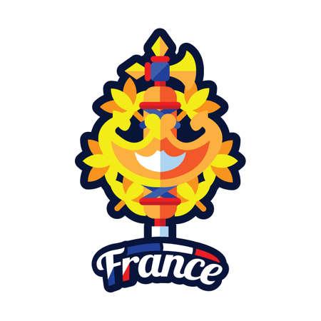 Emblème de la france Banque d'images - 81485194