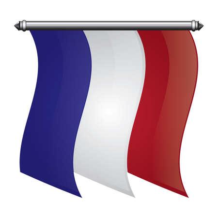 france flag pennant Stok Fotoğraf - 81485203