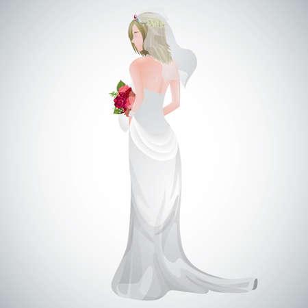 Braut hält Blumenstrauß Standard-Bild - 81485207