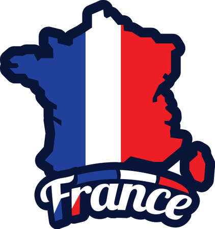 Frankreich-Karte Standard-Bild - 81485216