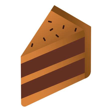 chocolate layer cake slice Ilustração