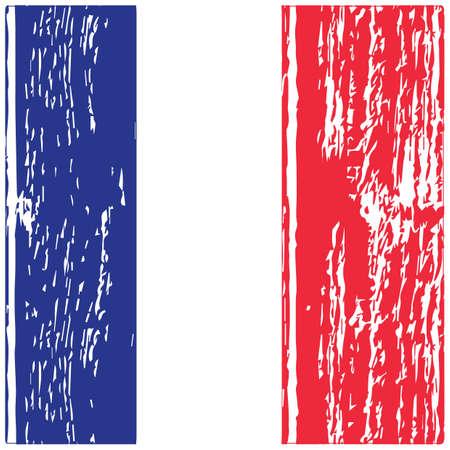 Priorità bassa del grunge della bandierina della Francia Archivio Fotografico - 81485224