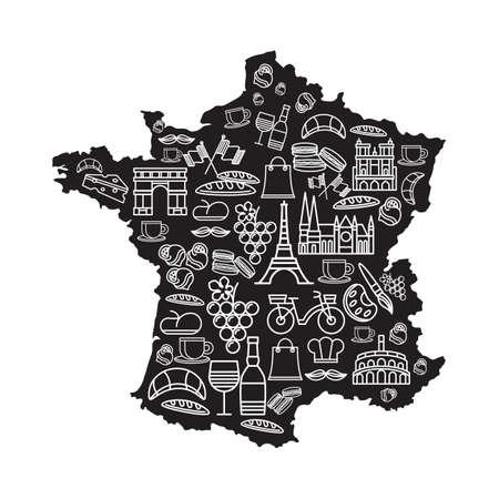 フランスのアイコンのセット