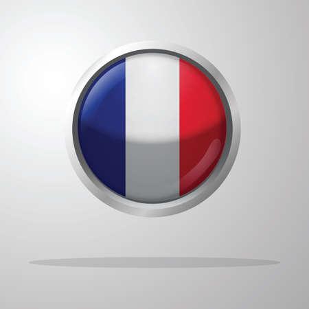 Bouton de drapeau de la france Banque d'images - 81485242