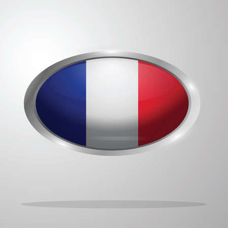 france flag button Ilustrace