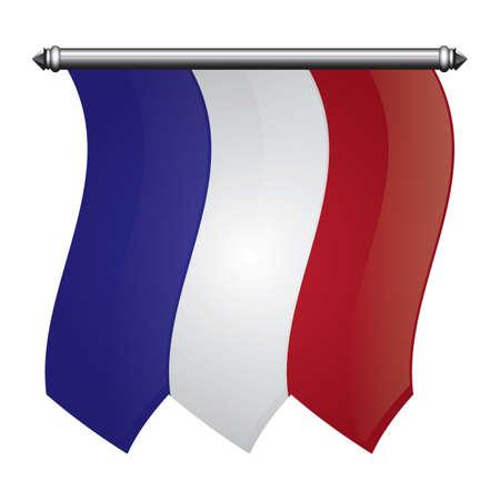 Bandera bandera francia Foto de archivo - 81485284