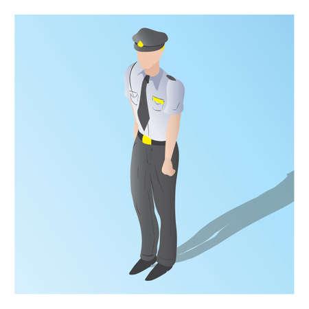 警備員の等尺性