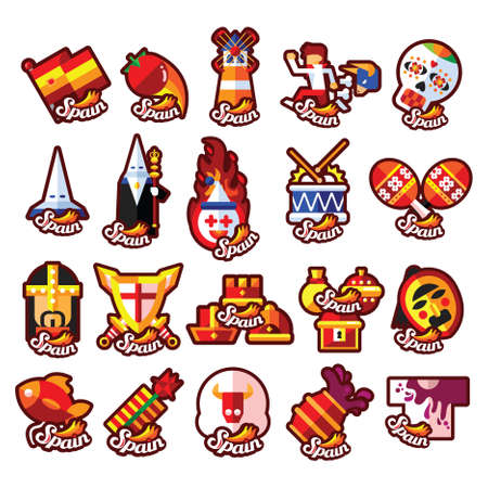 conjunto de iconos de españa