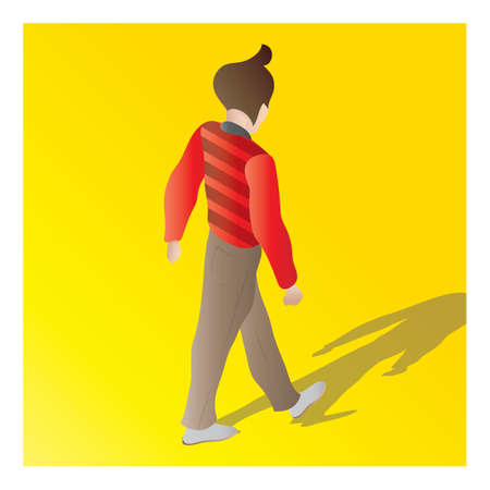isometric of a man  イラスト・ベクター素材
