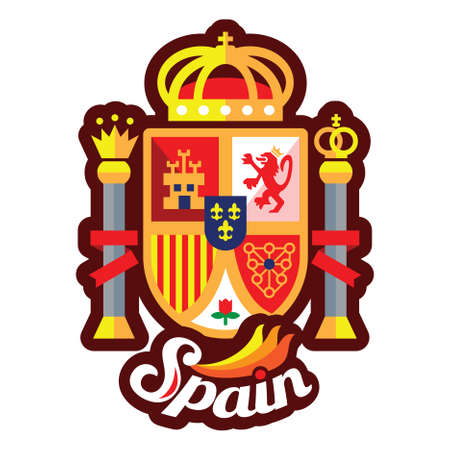 coat of arms of spain flag 向量圖像