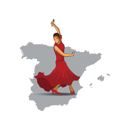 flamenco dancer Çizim