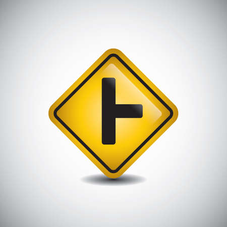 side road right sign Banque d'images - 106669848