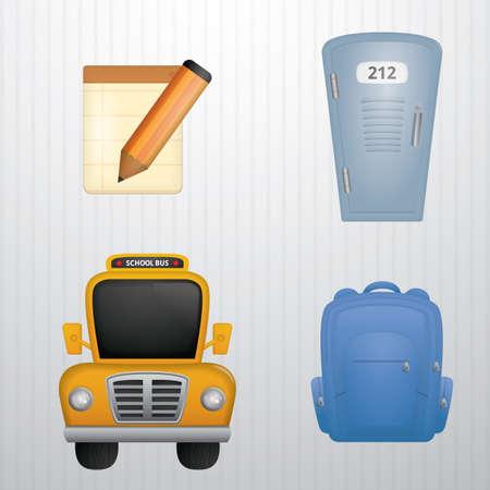 set of school icons Stock Vector - 106669850
