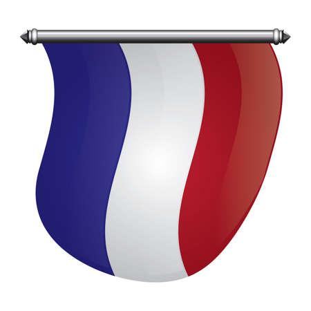 Frankreich flagge pennant Standard-Bild - 81485317