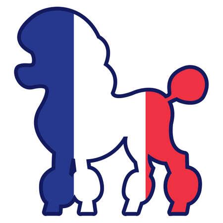 Poedel hond Stock Illustratie