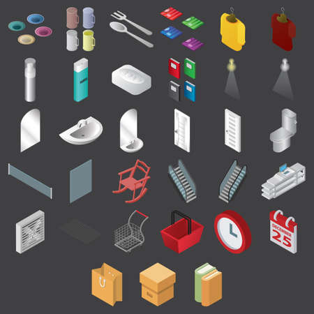 set of assorted icons 向量圖像