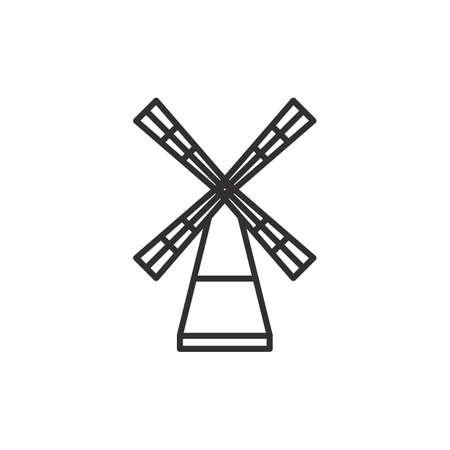 風車  イラスト・ベクター素材