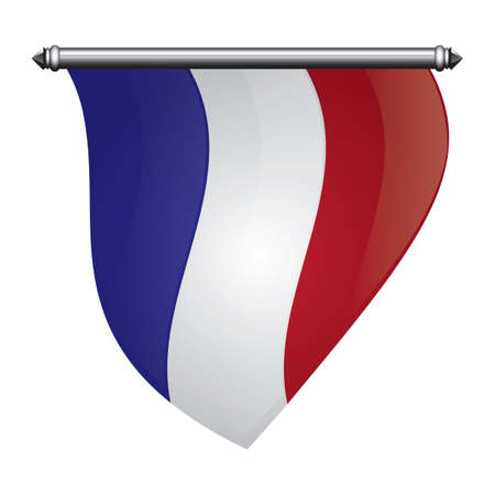 france flag pennant Ilustracja