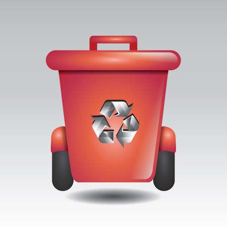recycle bin Illusztráció
