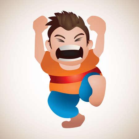 boy shouting Foto de archivo - 106669857