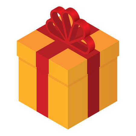 isometric gift box Çizim
