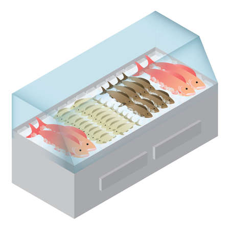 Fische im Kühlschrank Standard-Bild - 81485339