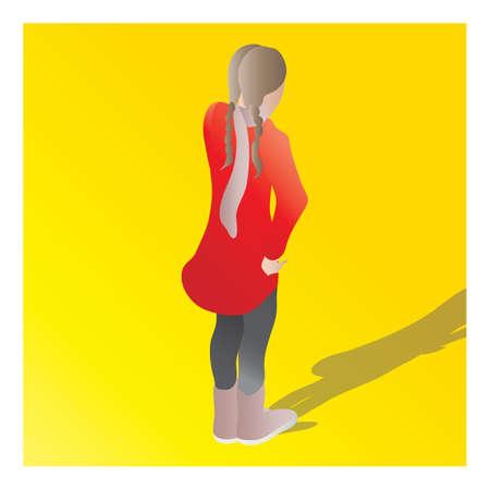 isometrisch van een meisje