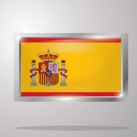 spain flag button