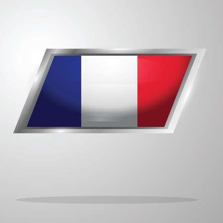 france flag button Ilustrace